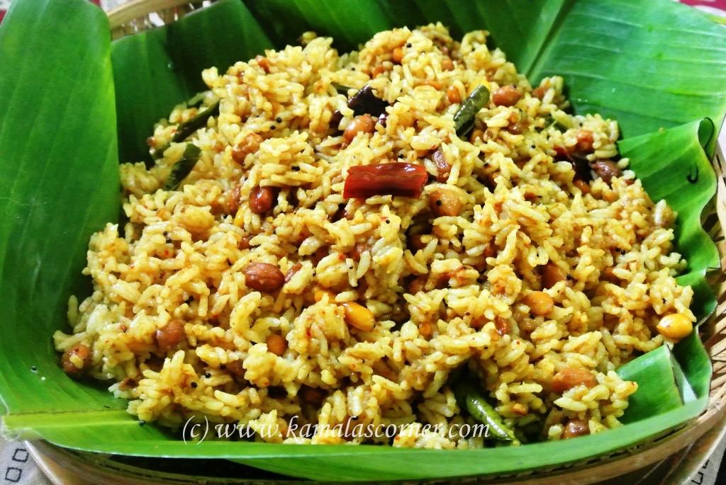 Tamarind Rice (Puliyodharai)