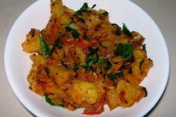 pudina-potato-curry