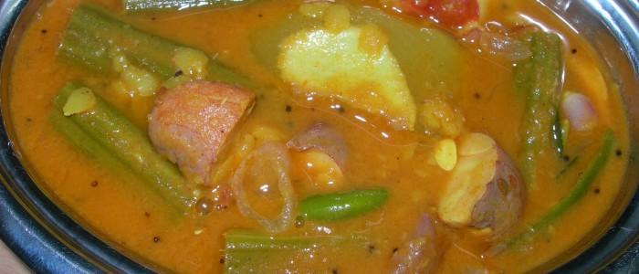 Mango Murungai Palaakottai sambar