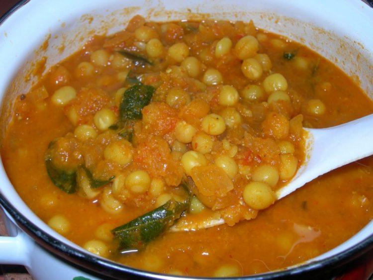 pattani masala dry peas masala