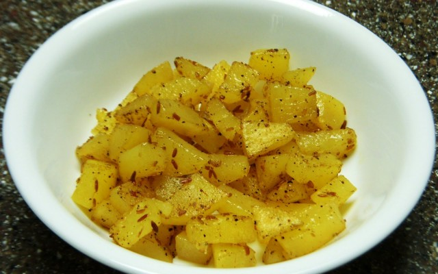 Potato Pepper & Jeera Fry