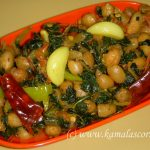 Keerai (Greens) Kadalai Curry