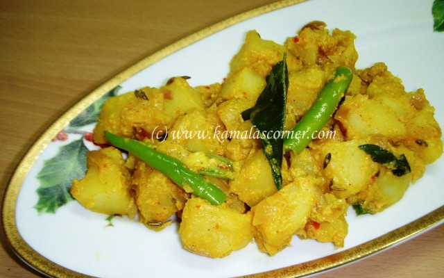 Potato Curd Masala