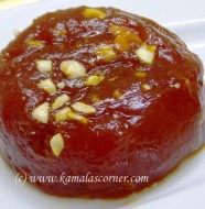 Papaya Orange Halwa