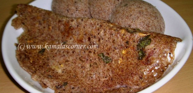 Ragi Idli and Dosai