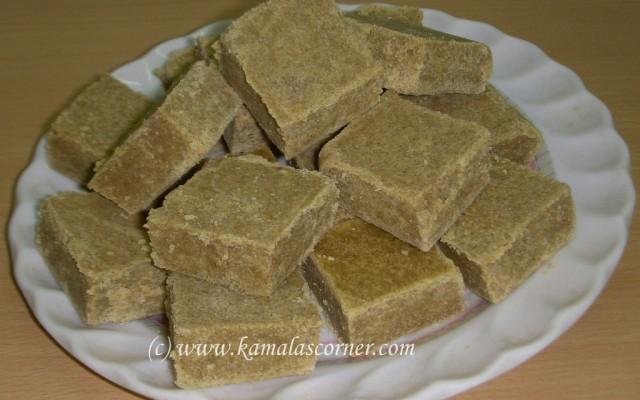 Sathu Maavu (Nutrient flour) Burfi
