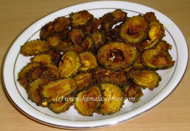 Pavakaai (Bitter gourd) Tawa Fry