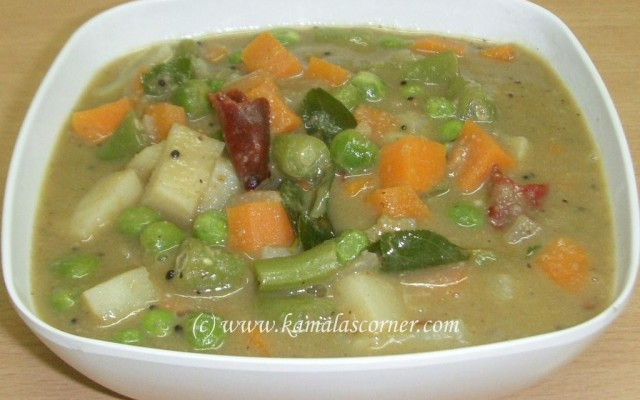Vegetable Saagu
