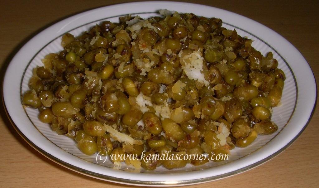 Green Gram (Moong) Sweet Sundal