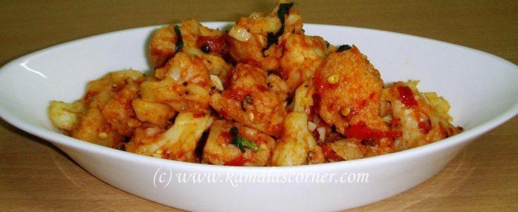 Cauliflower Chilli Fry