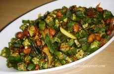 Okra peanut curry