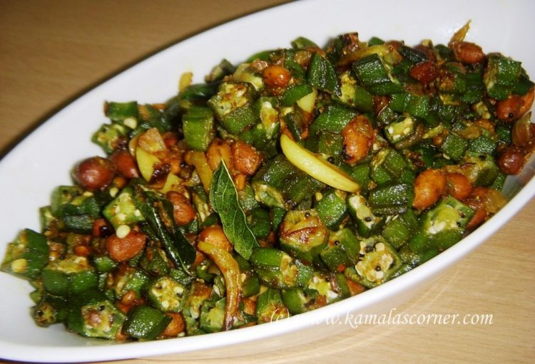 Okra (Vendaikai) Peanut Curry
