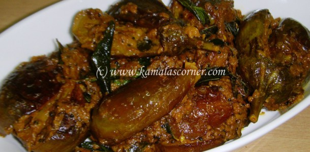 South Indian Cooking Method: Stuffed Brinjal Curry  South Indian Co...