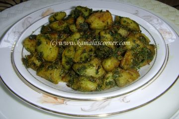 Potato Coriander Fry