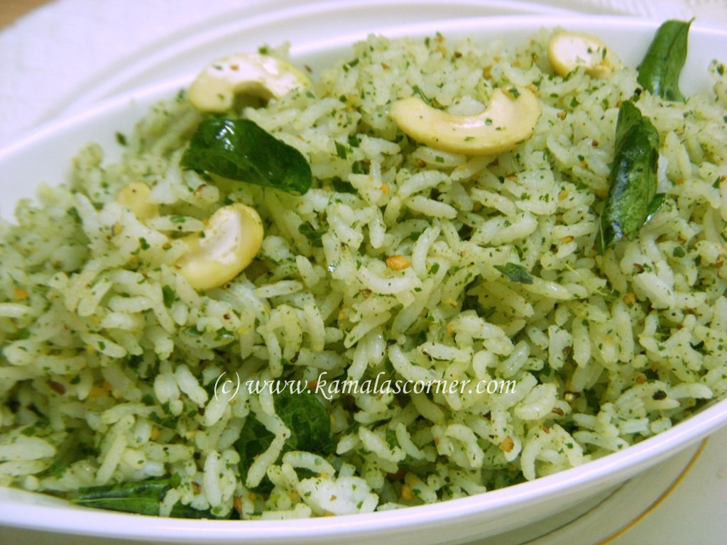 Curry Leaves Rice –  Method  2
