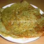 Sprouted Green Gram (Moong) Dosai