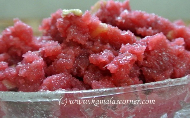 Beetroot Banana Kesari