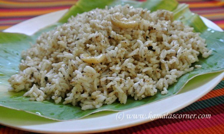 Samba Sadham (Pepper, Cumin Rice)