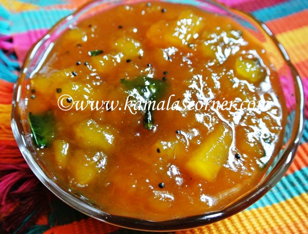 Parangi Kai (Yellow pumpkin) Pachadi