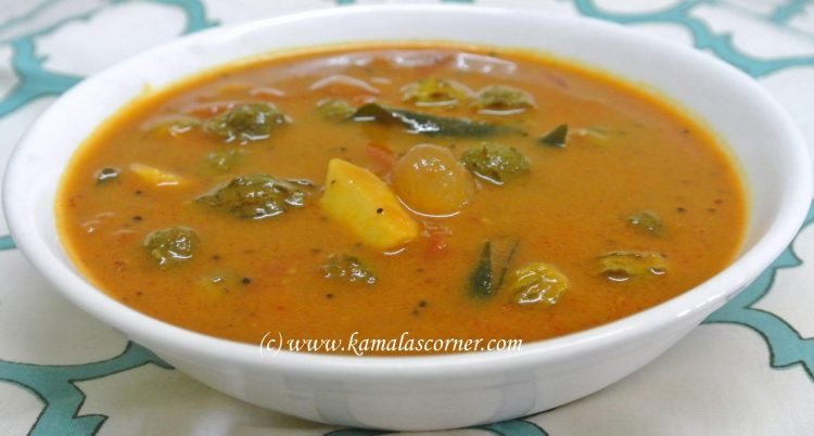 Pavakaai (Bitter gourd) Puzhi Kuzhambu