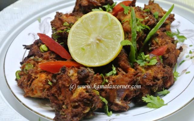 Vegetable Pakoda with Jamun Mix