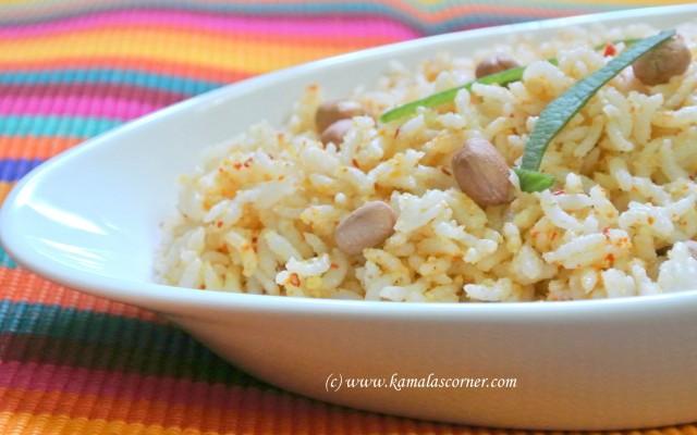 Pea Nut (Verkadalai) Rice