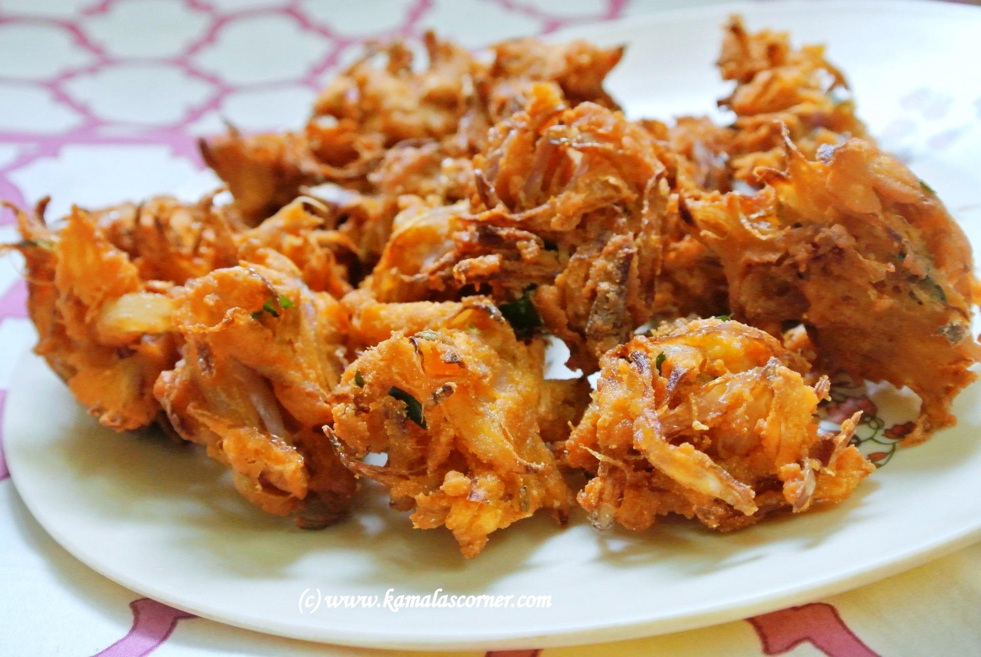 Quick Onion Pakoda Kamala S Corner