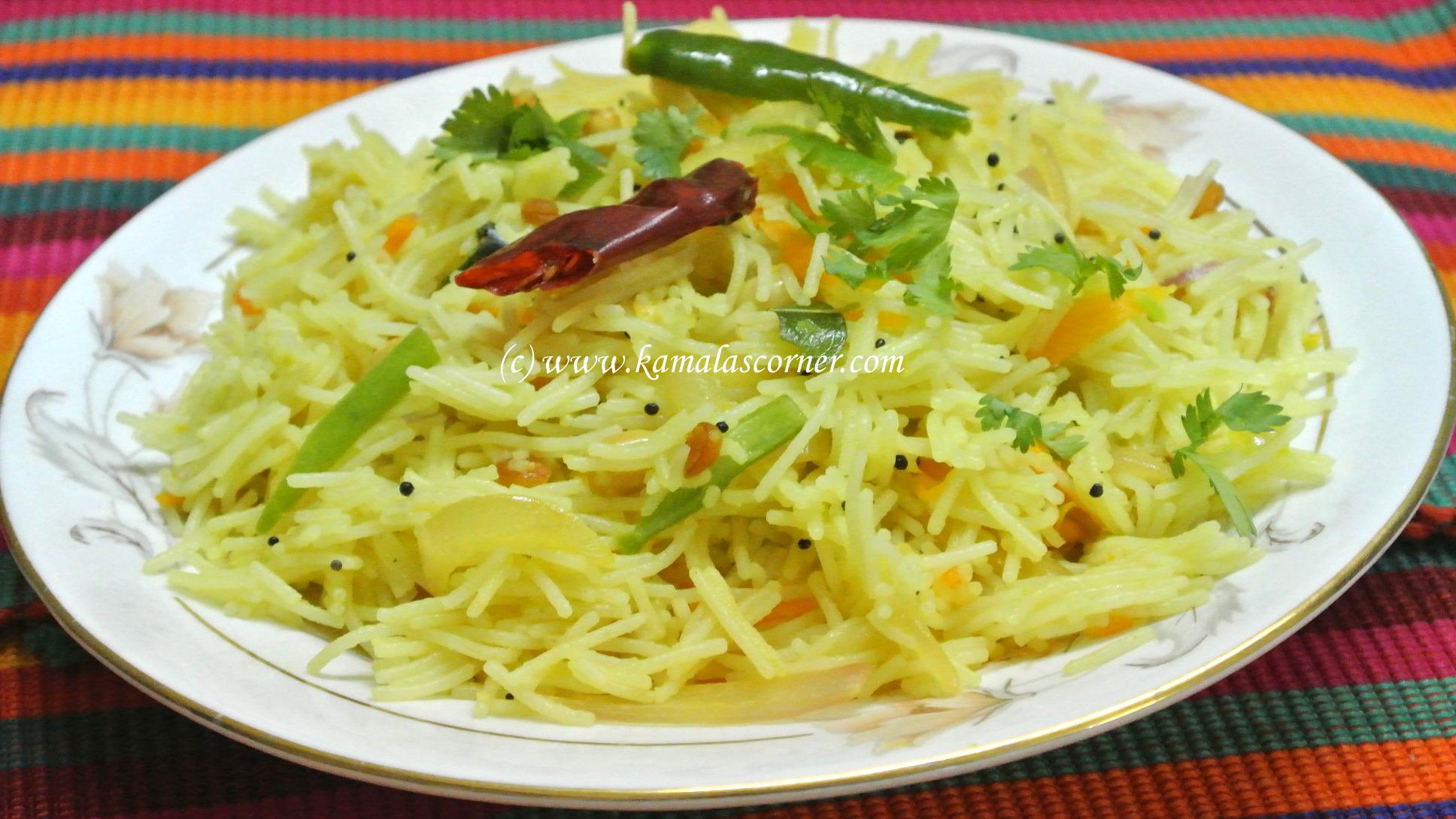 South indian breakfast recipes lemon semiya vermicelli forumfinder Choice Image